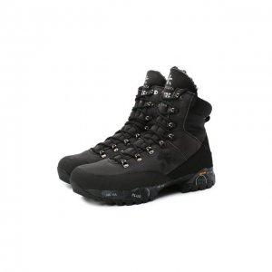 Комбинированные ботинки Midtreck Premiata. Цвет: чёрный