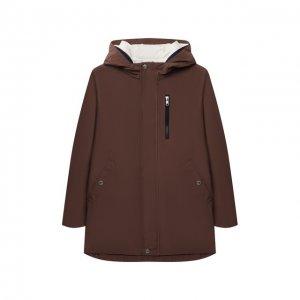 Комплект из плаща и куртки Brunello Cucinelli. Цвет: коричневый