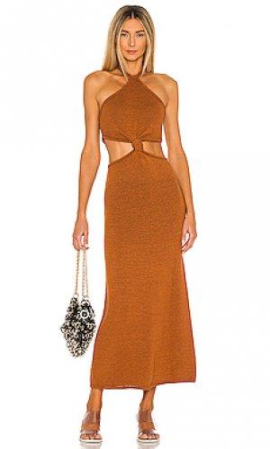 Макси платье cameron Cult Gaia. Цвет: ржавый