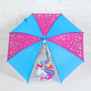 Зонт детский п/авт r-37,5 см с прозрачным клином Школа талантов