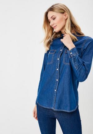 Рубашка джинсовая Brave Soul. Цвет: синий