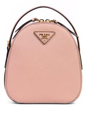 Кожаный рюкзак PRADA. Цвет: бежевый