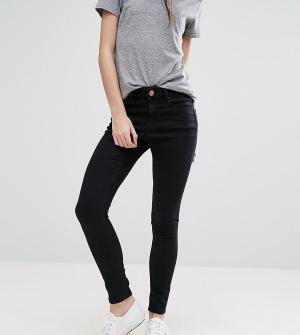 3d22e701b4c Черные джинсы скинни с завышенной талией ASOS DESIGN Petite Ridley. Цвет   черный