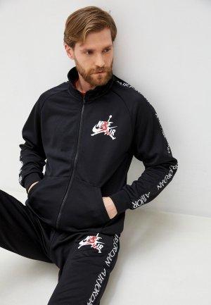 Олимпийка Jordan M J JM CLSC TRICOT WARMUP JKT. Цвет: черный
