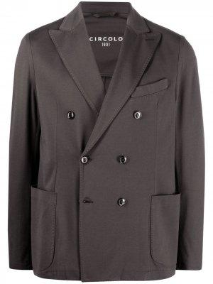Двубортный пиджак Circolo 1901. Цвет: серый