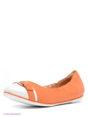 Балетки LENA MILAN. Цвет: белый, оранжевый