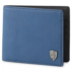 Кошелек Ferrari Style Mens Wallet PUMA. Цвет: синий