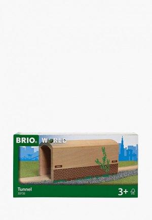 Набор игровой Brio деревянный туннель с рельсами. Цвет: бежевый