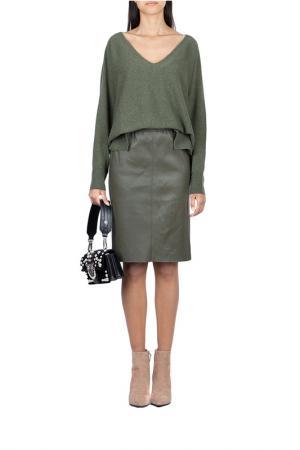 Пуловер MAX & MOI. Цвет: зеленый