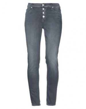 Джинсовые брюки HUDSON. Цвет: стальной серый