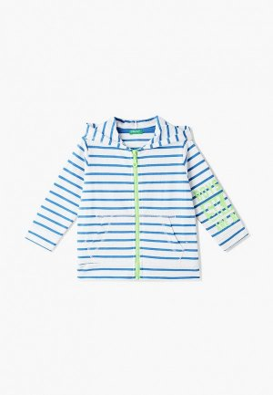 Толстовка United Colors of Benetton. Цвет: голубой