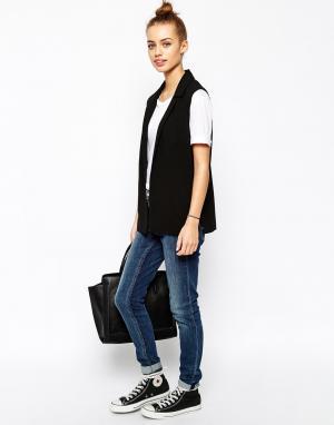 Жакет без рукавов New Look. Цвет: черный