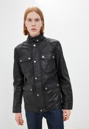 Куртка кожаная Jorg Weber. Цвет: черный