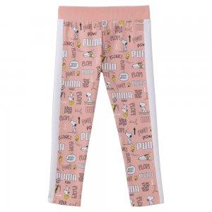 Детские леггинсы x PEANUTS Kids Leggings PUMA. Цвет: розовый