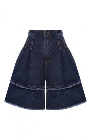 Джинсовые шорты Dolce & Gabbana. Цвет: темно-синий