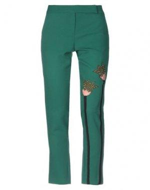 Повседневные брюки ANDREA TURCHI. Цвет: зеленый
