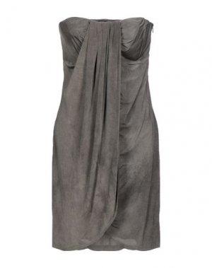Короткое платье DANIELE ALESSANDRINI. Цвет: свинцово-серый