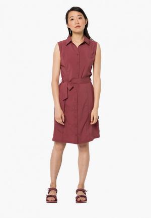 Платье Jack Wolfskin SONORA DRESS. Цвет: коричневый
