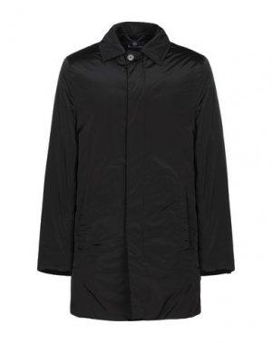 Легкое пальто AQUASCUTUM. Цвет: черный