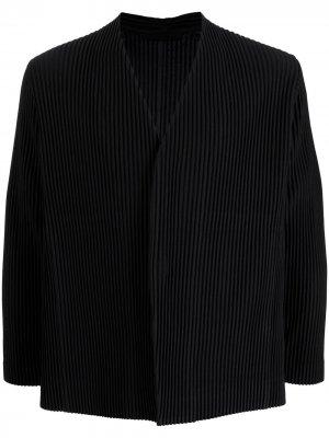 Плиссированный пиджак Homme Plissé Issey Miyake. Цвет: черный