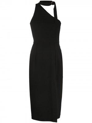 Платье миди с завязками на воротнике Zimmermann. Цвет: черный