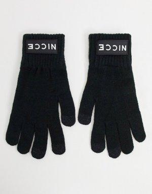 Черные трикотажные перчатки для сенсорных гаджетов -Черный Nicce
