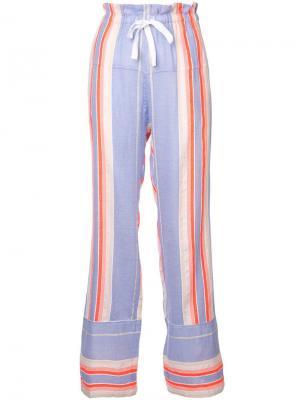 Пляжные брюки Fiesta в полоску lemlem. Цвет: фиолетовый