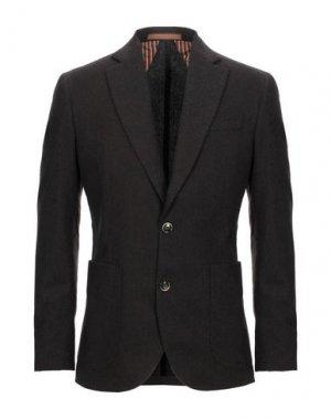 Пиджак JULIAN KEEN. Цвет: темно-коричневый