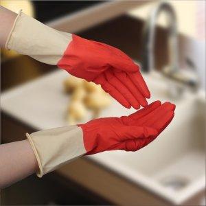 Перчатки хозяйственные латексные, плотные, размер xl, 50 гр, цвет красный Доляна