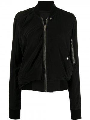 Куртка бомбер с высоким воротником Rick Owens. Цвет: черный