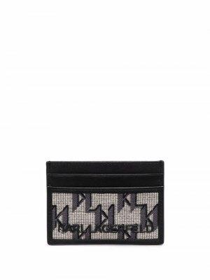 Жаккардовый картхолдер K/Monogram Karl Lagerfeld. Цвет: нейтральные цвета