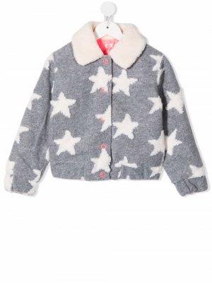 Faux-shearling all-over stars jacket Billieblush. Цвет: серый