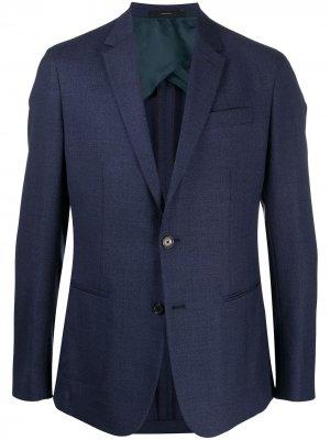 Приталенный пиджак на пуговицах Paul Smith. Цвет: синий