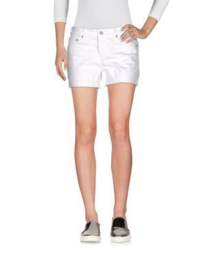Джинсовые шорты AG JEANS. Цвет: белый