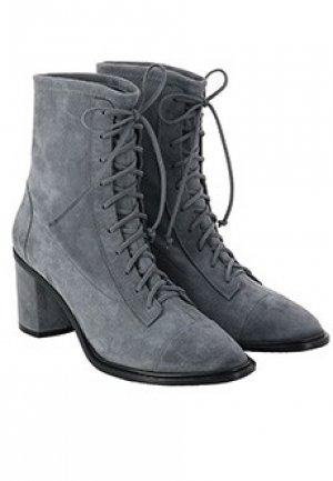 Ботинки CASADEI. Цвет: серый