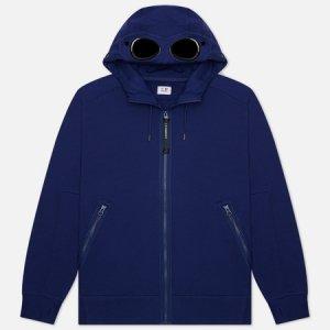 Мужская толстовка Diagonal Raised Fleece Goggle Hoodie C.P. Company. Цвет: синий