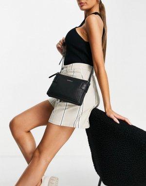 Черная сумка через плечо Brie-Черный цвет Fiorelli