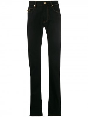 Расклешенные джинсы Versace. Цвет: черный