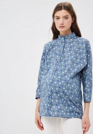 Рубашка po Pogode. Цвет: голубой