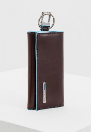 Ключница Piquadro BLUE SQUARE. Цвет: коричневый