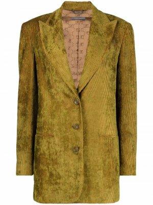 Crushed velvet blazer Alberta Ferretti. Цвет: зеленый