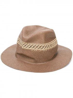 Шляпа-федора Hobo Super Duper Hats. Цвет: коричневый