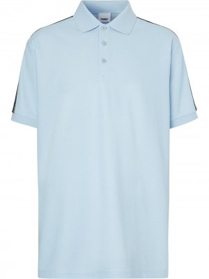 Рубашка поло с логотипом Burberry. Цвет: синий