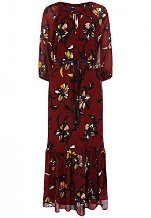Платье-миди с поясом S.Oliver
