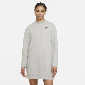 Платье с длинным рукавом Sportswear Tech Fleece - Серый Nike