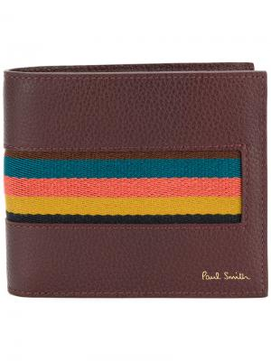 Бумажник Bright Stripe Paul Smith. Цвет: розовый и фиолетовый