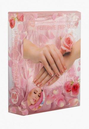Перчатки для маникюра Beauty Style увлажняющая маска с экстрактом розы, 185 гр. Цвет: розовый