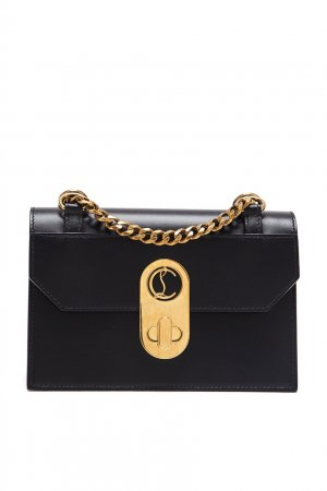 Компактная черная сумка-кроссбоди Elisa Christian Louboutin. Цвет: черный