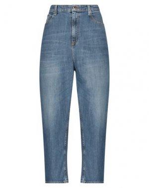 Джинсовые брюки CARE LABEL. Цвет: синий