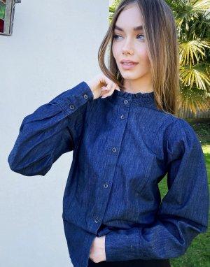 Рубашка цвета индиго InWear Yvonne-Черный цвет In Wear
